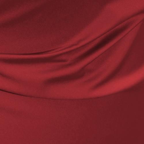 Satin microfibre royal rouge carmin