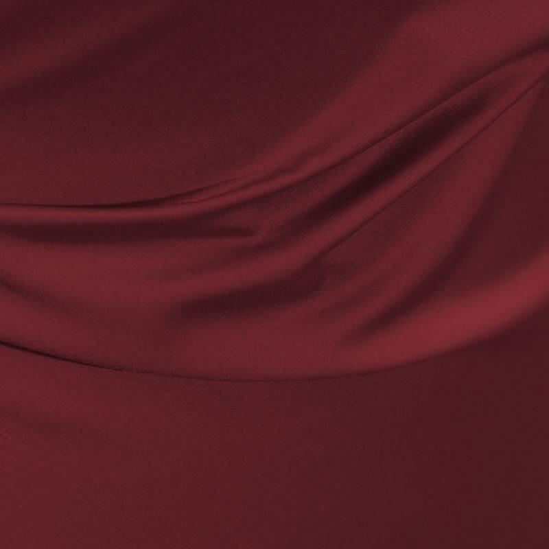 Satin microfibres royal lie de vin