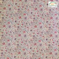 Coton écru imprimé liberty violet et rose