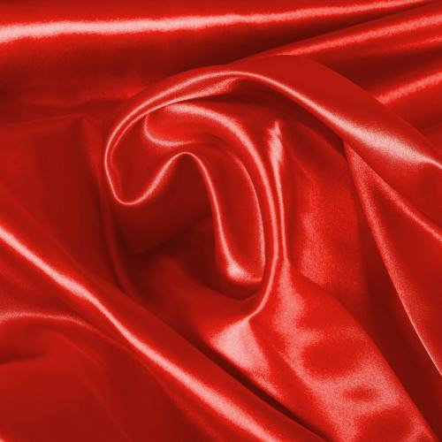 Satin extensible rouge