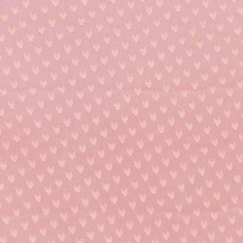 Mousseline plumetis saumon