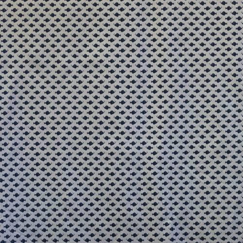 Coton gris motif poisson