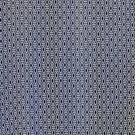 Tissu mousseline bleu imprimé polygone