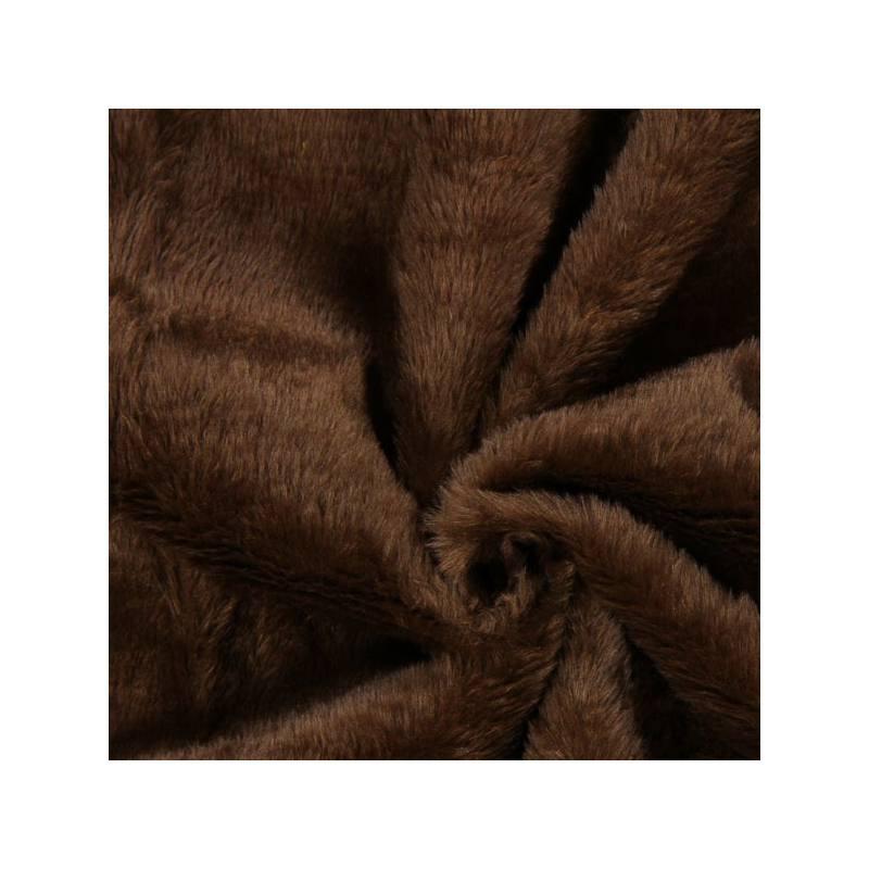 fausse fourrure uni marron pas cher tissus price. Black Bedroom Furniture Sets. Home Design Ideas