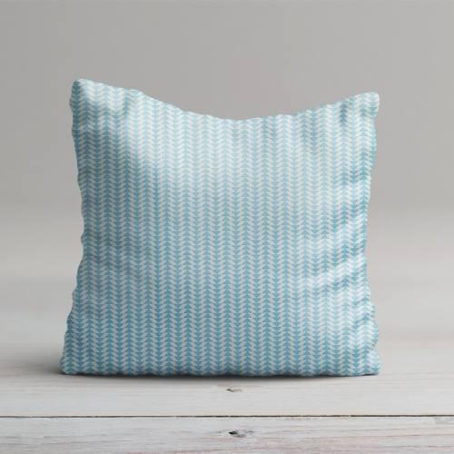 Coton bleu ciel imprimé frise petit triangle