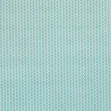 Coton vert d'eau imprimé frise petit triangle