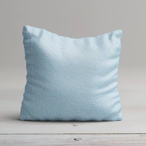 Coton bleu ciel imprimé petit pois
