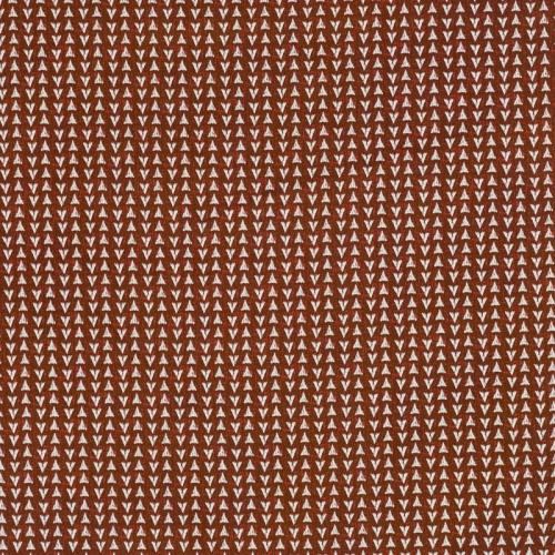 Coton bordeaux imprimé triangle ethnique