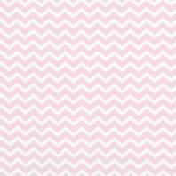 Coton rose pastel imprimé chevron