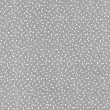 Coton gris imprimé petit triangle blanc