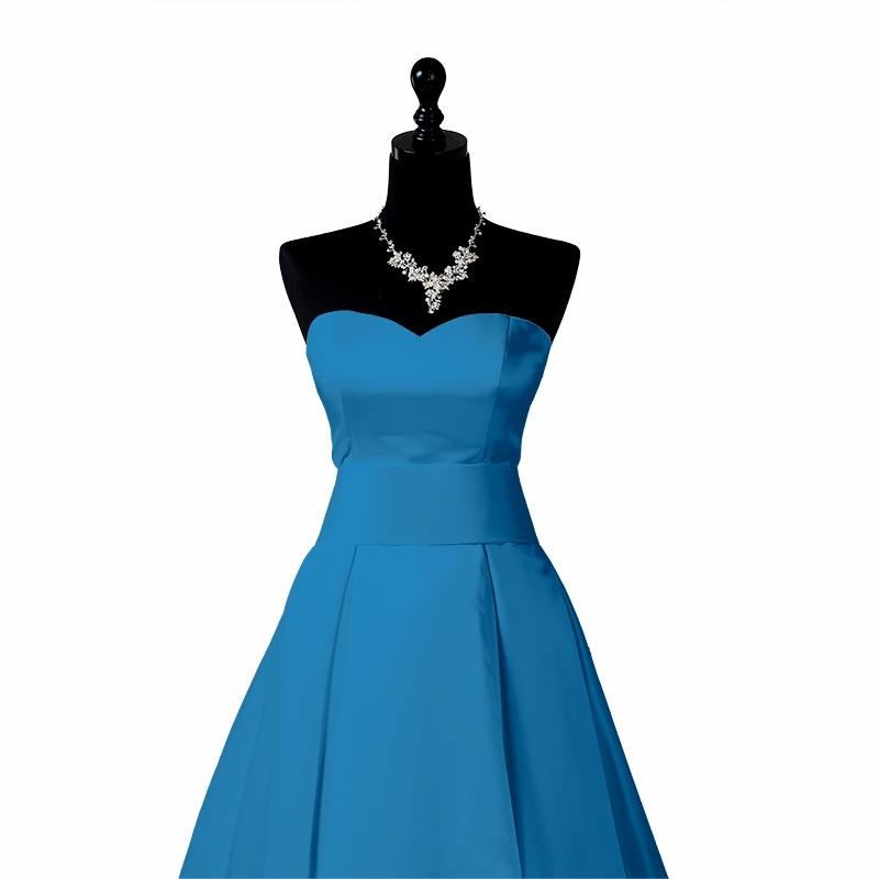 Satin extensible turquoise