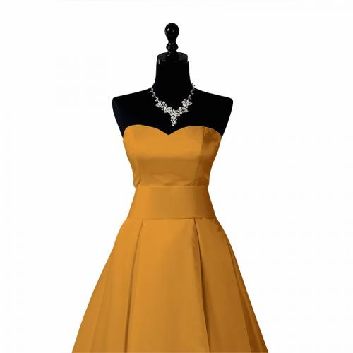 Satin extensible jaune or