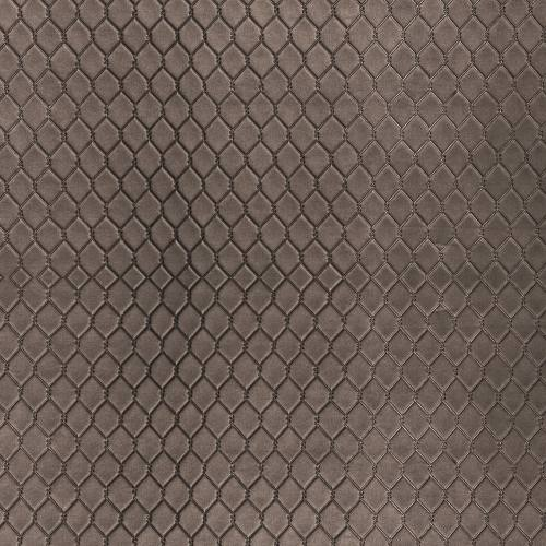 Simili cuir bronze matelassé losange