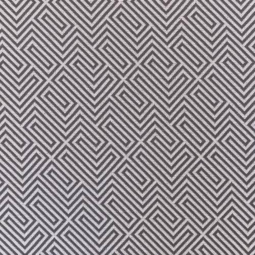 Jacquard anthracite et beige à motif labyrinthe