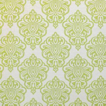 Jacquard vert motif arabesque