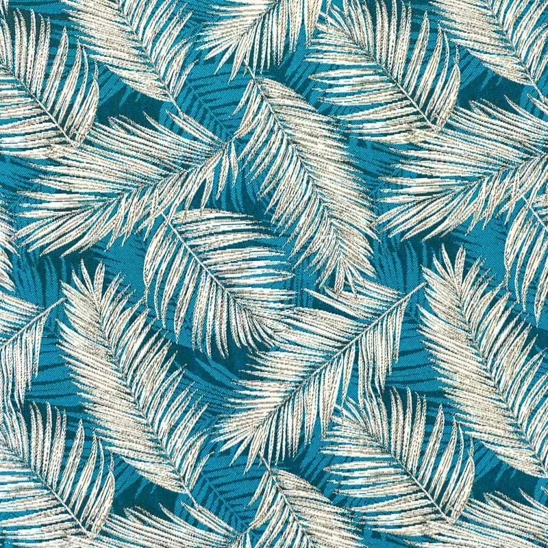 jacquard bleu et blanc motif v g tation pas cher tissus price. Black Bedroom Furniture Sets. Home Design Ideas