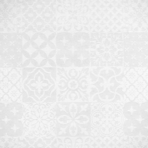 Jacquard ivoire brillant à motif géométrique