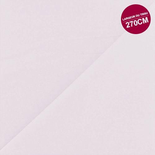 Percale satin de coton rose poudré uni grande largeur