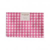 Coupon 40x60 cm coton rose pied de poule