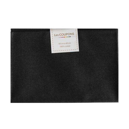 Coupon 40x60 cm coton uni noir