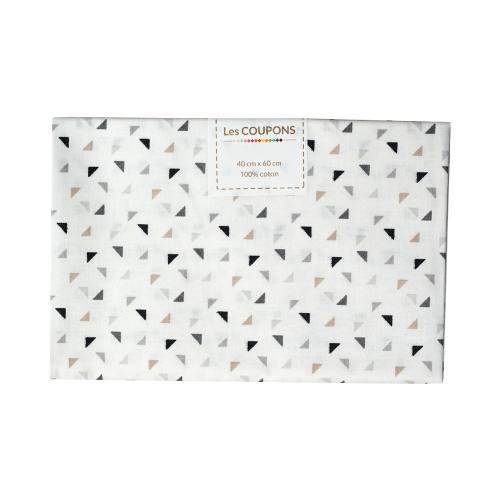 Coupon 40x60 cm coton twini noir et gris