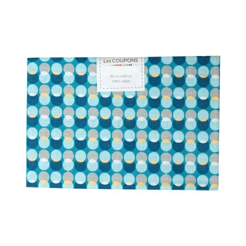 Coupon 40x60 cm coton bulle bleue