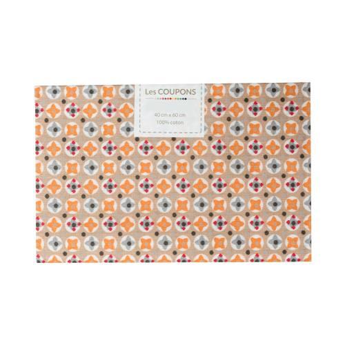 Coupon 40x60 cm coton arvey orange