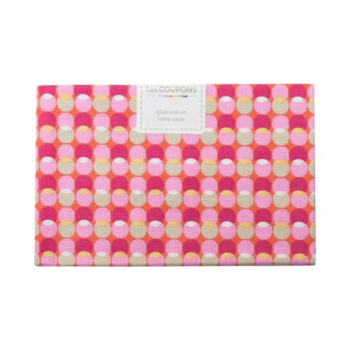 Coupon 40x60 cm coton bulle rose