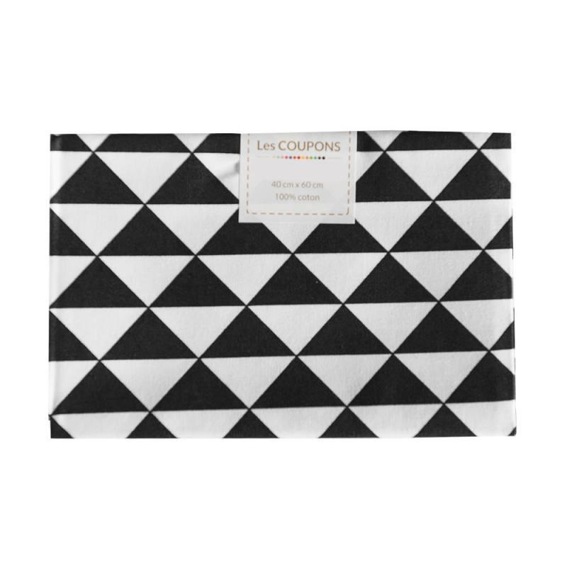 Coupon 40x60 cm coton noir vintage
