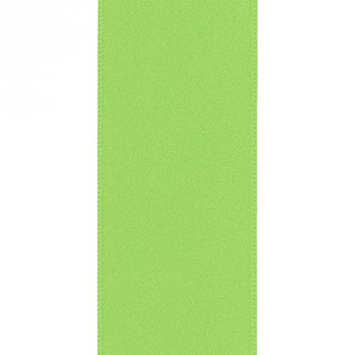 Ruban satin double face vert pomme 66mm