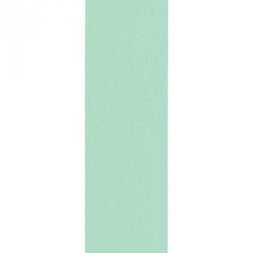 Ruban satin double face vert d'eau 39mm