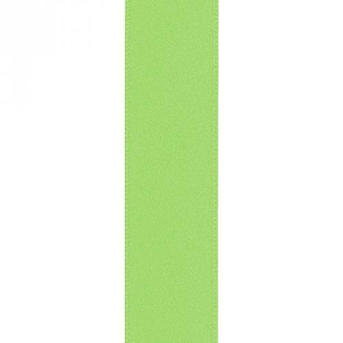 Ruban satin double face vert pomme 25mm