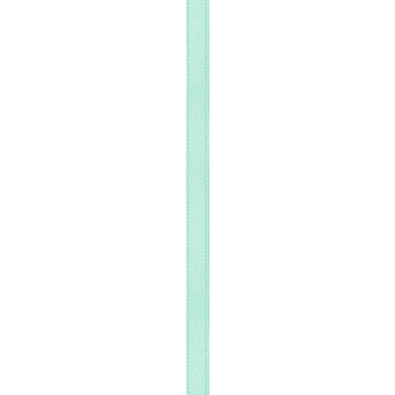 Ruban satin double face vert d'eau 6mm