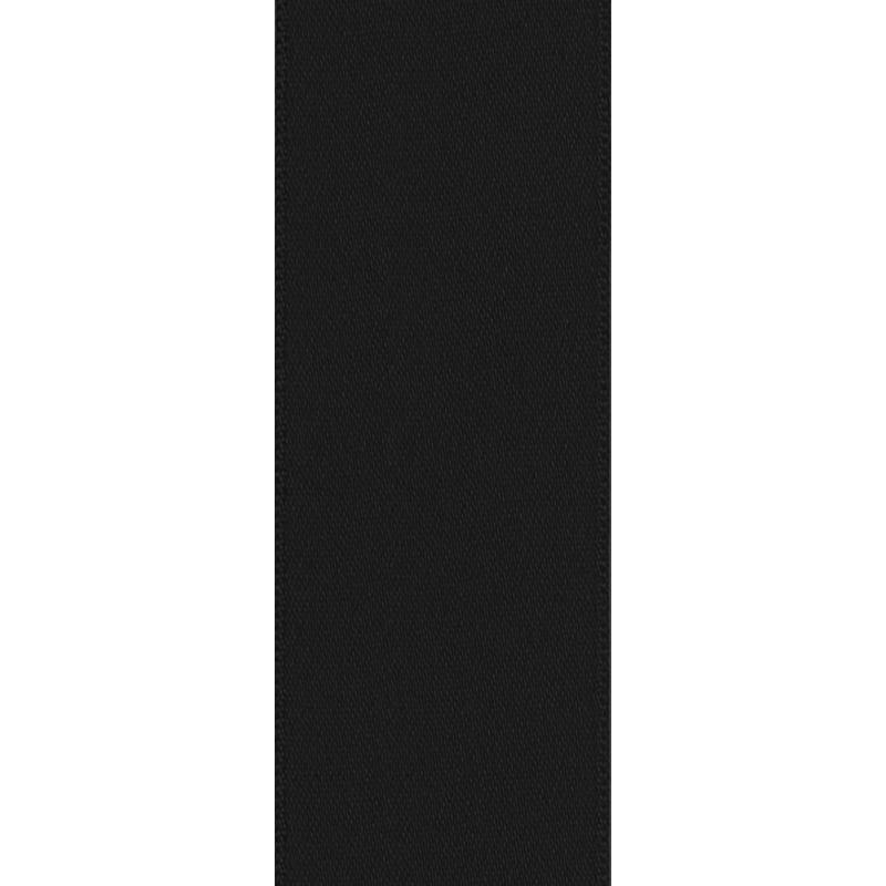 Ruban satin double face noir 50mm