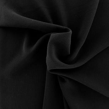 Tissu crêpe extensible noir