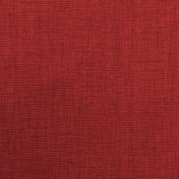 Toile polycoton rouge chinée grande largeur