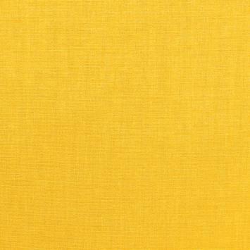 Toile polycoton jaune chinée grande largeur