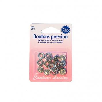 Recharge boutons pression x6 argenté