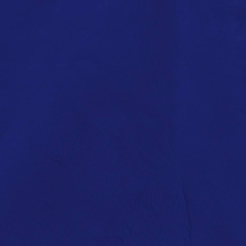 Fausse fourrure unie bleu roi