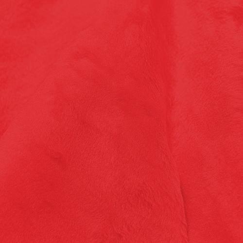 Fausse fourrure unie rouge