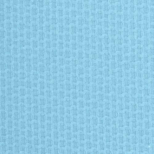 Coton piqué nid d'abeille bleu ciel