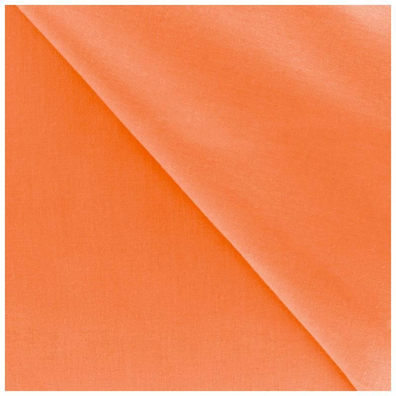 Polycoton uni orange pas cher tissus price for Tissu impermeable exterieur pas cher