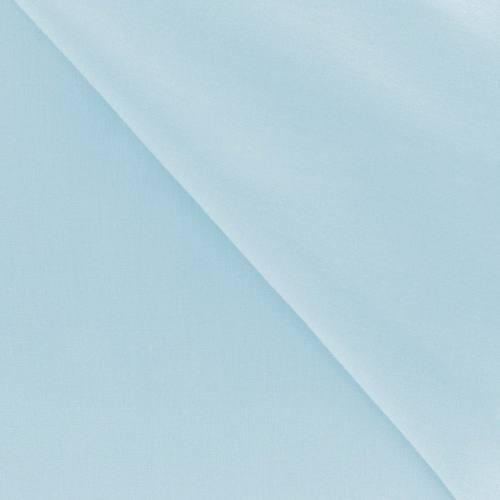 Polycoton uni bleu pastel
