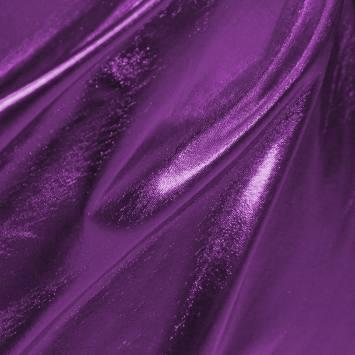 Lycra métallisé violet