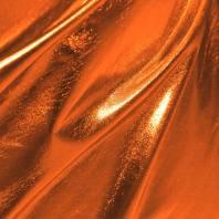 Lycra métallisé orange