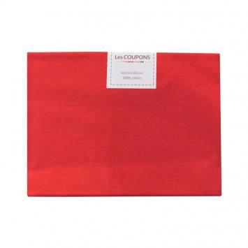 Coupon 40x60 cm coton uni rouge