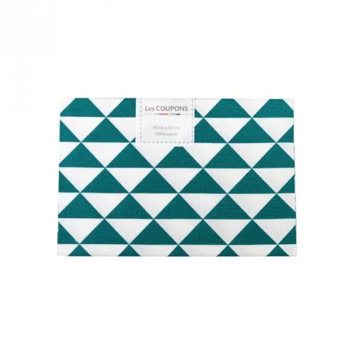 Coupon 40x60 cm coton bleu canard vintage