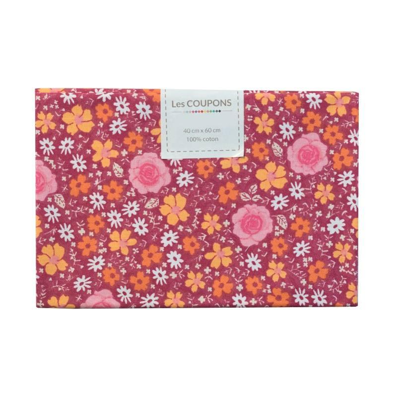 coupon 40x60 cm coton anisley bordeaux orange pas cher. Black Bedroom Furniture Sets. Home Design Ideas
