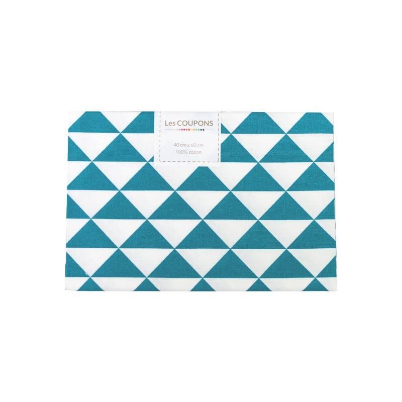 coupon 40x60 cm coton bleu p trole vintage pas cher. Black Bedroom Furniture Sets. Home Design Ideas