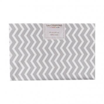 Coupon 40x60 cm coton gris clair chevron